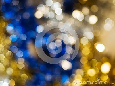 Christmas light background. Holiday glowing backdrop. Defocused Background.