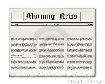 Blank Newspaper Template For Word from thumbs.dreamstime.com