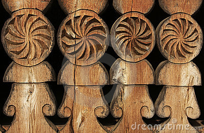 Old carved wood