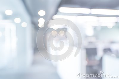 Abstract blurred office interior background