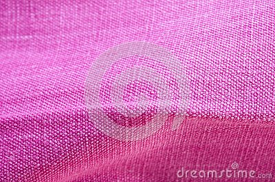 Fine pink colored linen, detail of texture and folds