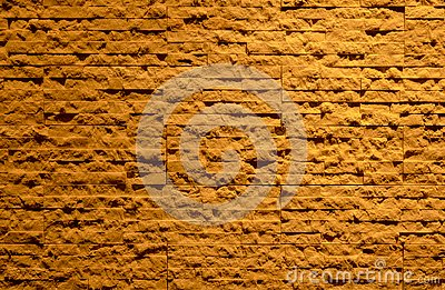pattern of modern dark brown or red  brick wall background texture