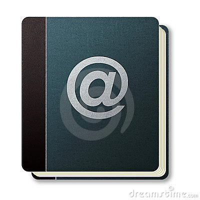 Internet address book icon