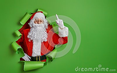 Santa Claus on color background