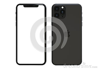 Apple iPhone 11 Pro Space grey, 2019, both sides, frontal