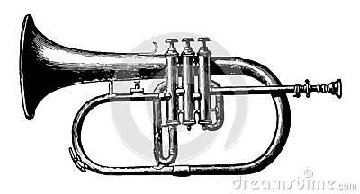 Alto Saxhorn, vintage illustration
