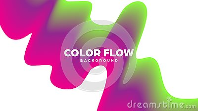Abstract trendy geometric background with liquid gradient. Colorful dynamic curve wave. Modern motion banner. Vector