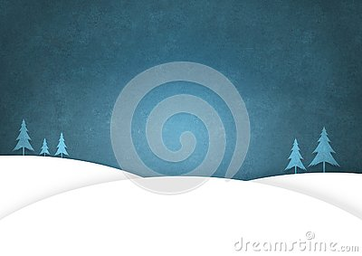Christmas Trees standing a snowy landscape. Space For Copy