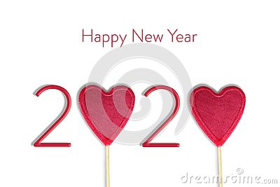 Happy New Year card. 2020 New Year concept