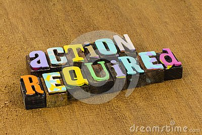 Action required immediate attention necessary urgent important review