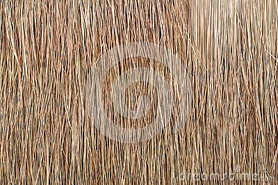 Close up of thatch roof background, hay or dry grass background