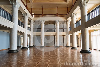 Interior of a classical building
