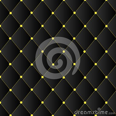 Black square pattern with gold pin template