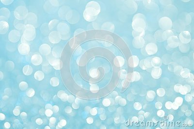 Winter christmas morning. Defocus abstract show. Gentle blue morning festive lights. Bright background and backdrop