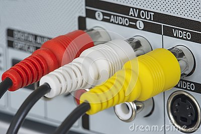 RCA plugs, video and audio