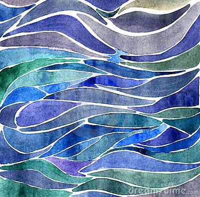 Background with water color waves