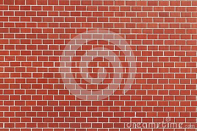 Red brick wall with white cement pattern texture, vintage background for copy space