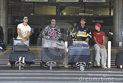 English boyband JLS is seen at LAX