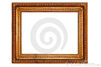 Rectangular gold plated wooden picture frame