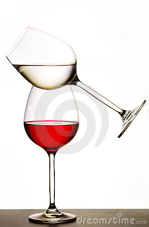 Balanced wine glasses