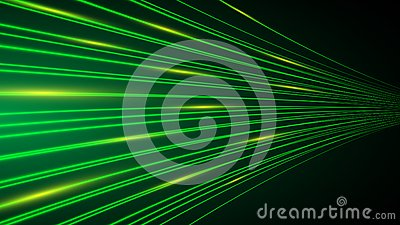 Neon green abstract power line technology background,speed data transfer concept,communication background with copy space