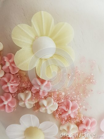 Wafter daisy cake decoration