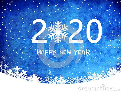 2020 happy new year card tenplate .design pattern on blue background . illustration design  .