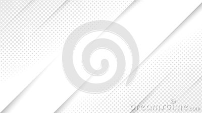Vector Abstract White and Grey Background with Diagonal Lines and Halftone Dots Mesh
