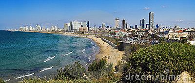 Panorama of Tel-Aviv coastline