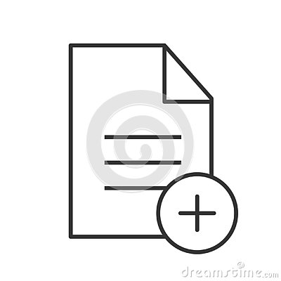 Add new document linear icon