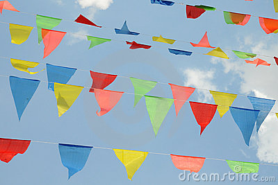 Triangular Colorful Flags