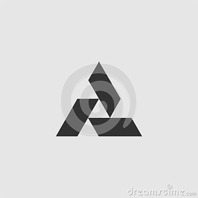Triangle tech logo template