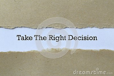 Take the right decision on paper