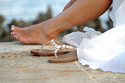 Feet and sandals