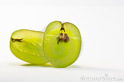Cut green grape