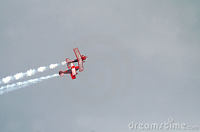 Two Red Stunt Planes