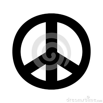 Peace sign.Fat peace sign love vector.Peace sign.