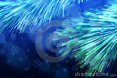 Christmas Tree Snowflakes Background