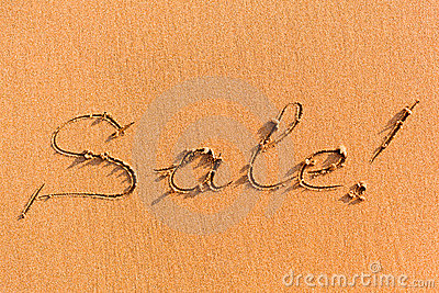 Word Sale on sand