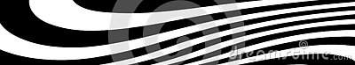 Abstract black and white curved lines vector