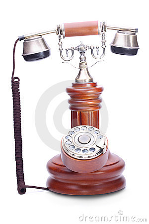 Old fashioned rotary dial phone