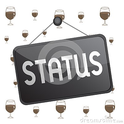 Text sign showing Status. Conceptual photo situation at a particular time during a process Professional position Colored memo