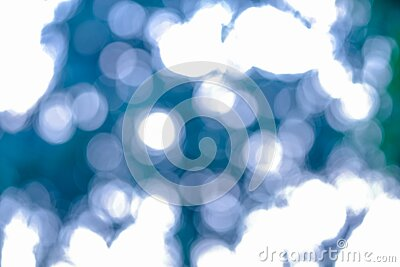 Abstract soft light bokeh circle blue and green light background. beauty defocus shine twinkle effect. no people