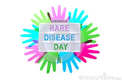 Rare Disease Day Poster or Banner Background. Top view