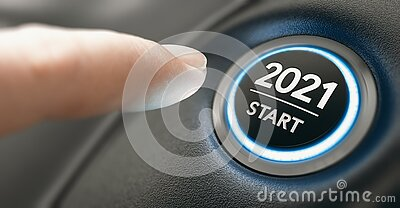Year 2021 Start, Two Thousand and Twenty One Concept