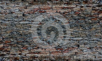 Abstract brown color mixture multi colors effects brick wall texture Background.