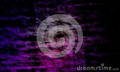 Abstract purple color mixture multi colors effects brick wall texture Background.