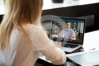 Employer listen applicant during job interview using webcam and pc