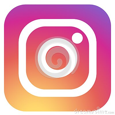 Squared colored round edges instagram logo icon