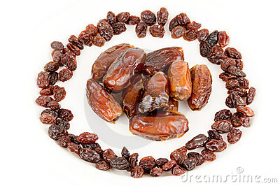 Dates and raisins